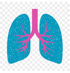 Lungs icon cold cough and acute bronchitis lung vector