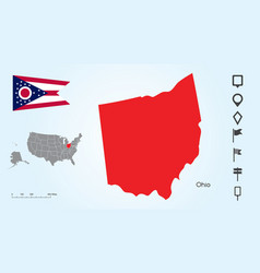 map the united states with selected state vector image