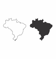 maps of the brazil vector image