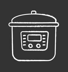 Multi cooker chalk icon vector