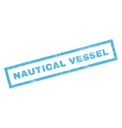 Nautical Vessel Rubber Stamp vector