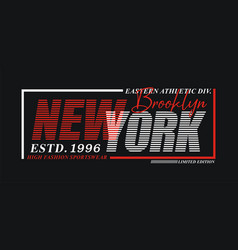 new york sport typography design usa style vector image
