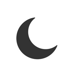 nighttime moon icon in flat style lunar night on vector image