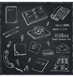 office tools doodles pen pencils book paper vector image