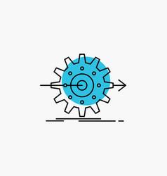 Performance progress work setting gear line icon vector