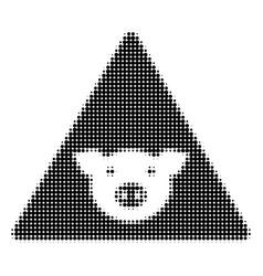 Pig error halftone icon vector