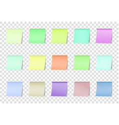 post note color stickers isolated on vector image