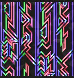 retro neon stripes seamless pattern vector image