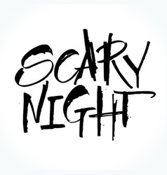 Scary night lettering for halloween vector