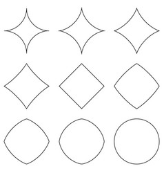 set geometric shapes transition from star vector image