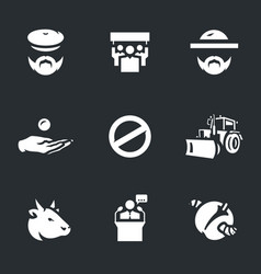 Set of agricultural sanctions icons vector