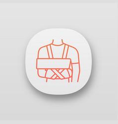 shoulder immobilizer app icon vector image