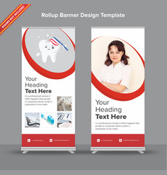 Sophisticated rollup banner design with duotone vector
