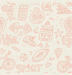 Sport and fitness doodle vector