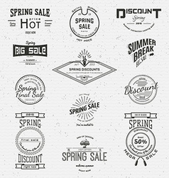 Spring sale badges logos and labels for any use vector image