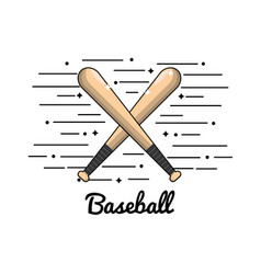 symbol baseball play icon vector image