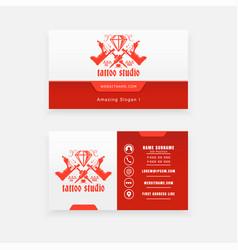 Tattoo machine logo concept business card vector