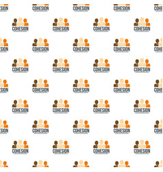 team work pattern seamless vector image