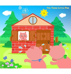 The three little pigs very scared vector image