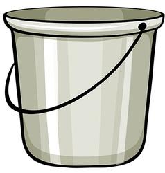 Tin bucket vector image