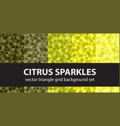 triangle pattern set citrus sparkles seamless vector image
