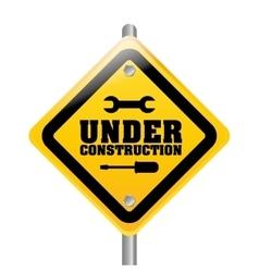 Under construction barrier design vector image