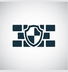 wall shield icon for web and ui on white vector image