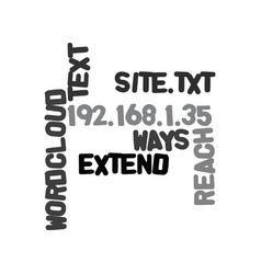 Ways to extend the reach of your site text word vector