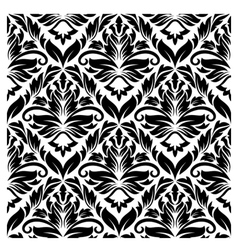 white and black seamless pattern vector image