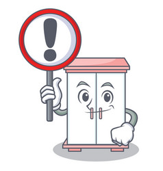 With sign cabinet character cartoon style vector