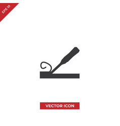 wood chisel icon vector image