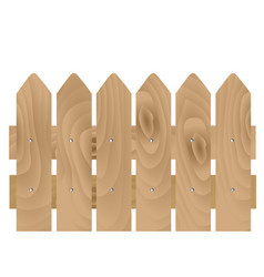 wooden planks fence vector image