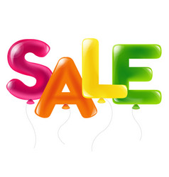 colorful sale text of balloons vector image vector image
