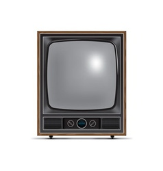 square screen retro tv vector image