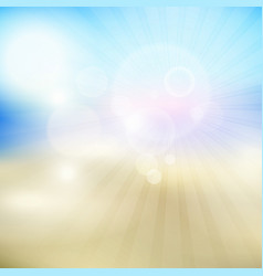 Summer themed blur background vector
