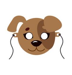 Dog animal carnival mask favorite pet festival vector