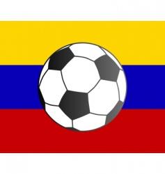 flag of Venezuela and soccer ball vector image