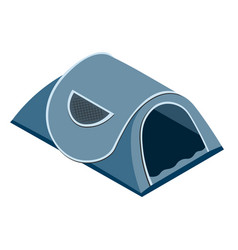 isolated tent in isometric style vector image