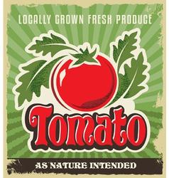 Retro tomato vintage advertising label sign vector image vector image