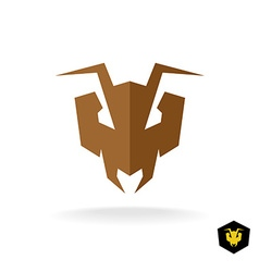 Ant head logo Serious face of the predator bulldog vector image vector image