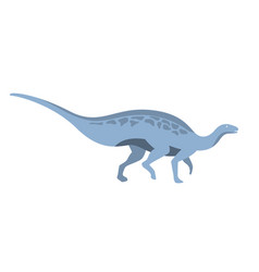 blue herbivorous dinosaur of jurassic period vector image vector image