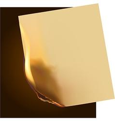 Burning paper vector