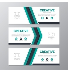 Corporate business banner template horizontal vector image vector image