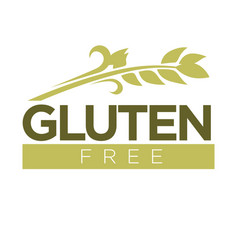 gluten free in cereal grains logo dough without vector image vector image