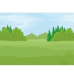 Landscape summer forest vector image vector image