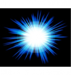 light sparkle with blue colours vector image