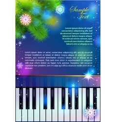 New Year Piano vector image