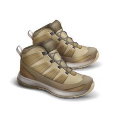 Pair of travel sneakers vector