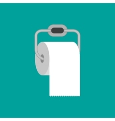 Toilet paper roll with metal holder vector image