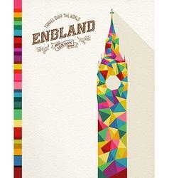 Travel England landmark polygonal monument vector image vector image